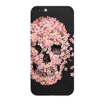 coque iphone xr tete de mort fleur