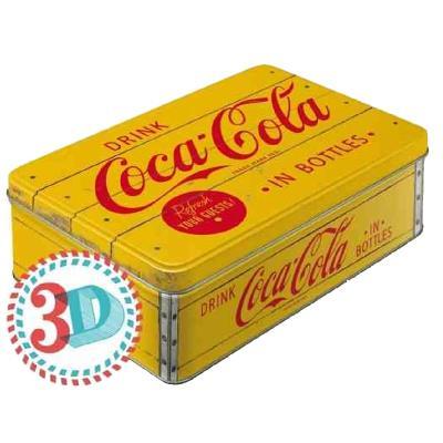 Boite rectangulaire métallique Coca-Cola