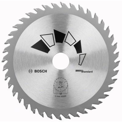 Bosch 2609256814 Standard Lame De Scie Circulaire 24 Dents Carbure Coupe Rapide Diamètre 180 Mm Alésage/Alésage Avec Bague De Ré