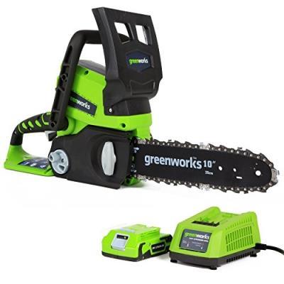 Greenworks Tools Set 2000007-A Tronçonneuse Sans Fil 24 V Lithium-Ion