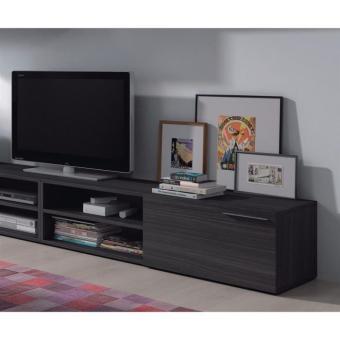 kikua meuble tv 130cm gris cendr meuble tv achat prix fnac. Black Bedroom Furniture Sets. Home Design Ideas