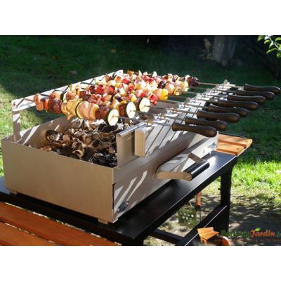 Tourne brochettes automatique 8 brochettes pour barbecue