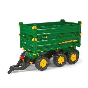 10 sur rolly toys 125043 rollymulti trailer john deere remorque pour tracteurs pdales achat prix fnac - Tracteur John Deere Enfant
