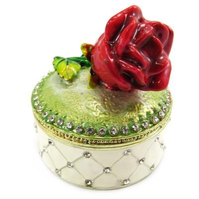 Coffret à Bijoux 'Rose Rouge' rouge