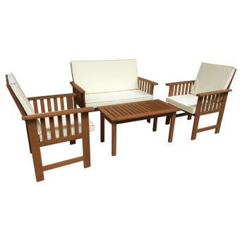 salon de jardin en bois exotique bangkok maple marron clair mobilier de jardin achat. Black Bedroom Furniture Sets. Home Design Ideas
