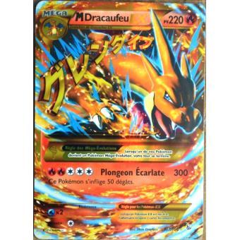 Carte pok mon 107 106 m dracaufeu ex 220 pv secrete xy - Pokemon dracaufeu ex ...