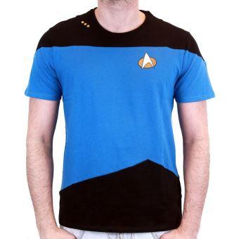 Tshirt Star Trek - Uniform Spock Blue - Bleu - M, T-Shirt, Top Prix   fnac 0ea19019617