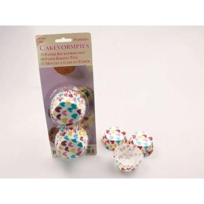 patisse 01739 cupcakes en papier sulfurise coeurs multicolore 5 cm