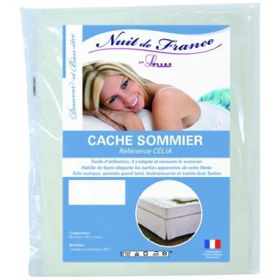 Nuit de france 329371 80/200 cache sommier déco coton ecru 200 x 80 x 1 cm