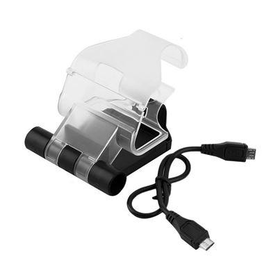 Clip Support pour fixer votre téléphone sur votre manette PS4-longueur du clip réglable de 5cm à 8.8 cm, Soutien pour 6 telephone portable-L'angle fonction de réglage, réglage de l'angle jusqu'à 180 degrés-S'intègre parfaitement avec la manette PS4-Compat
