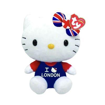 Hello Kitty I Love London TY Beanie Peluche