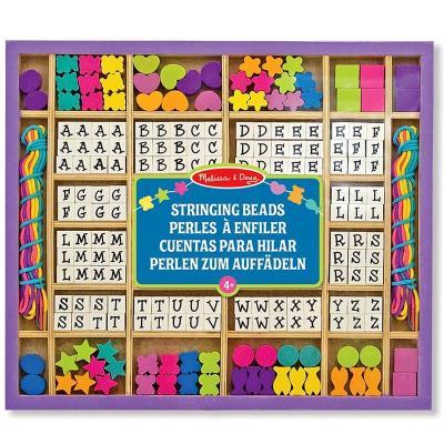 Set de perles en bois Alphabet Kit complet 200 pcs Enfants 4 ans +