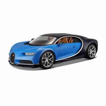 modèle réduit : bugatti chiron bleue : echelle 1/18 bburago