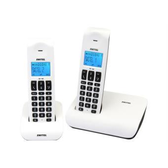 Téléphone fixe SWITEL DE182 BLANC DUO SANS REPONDEUR