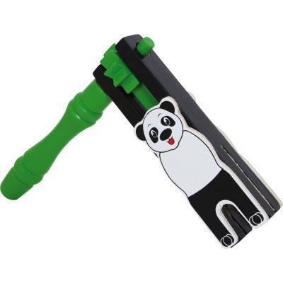 Crécelle panda en bois