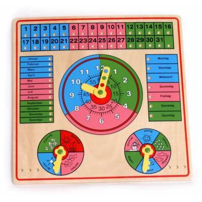 Horloge d'apprentissage du calendrier et de l'heure Arthur