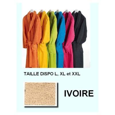 Peignoirs adulte 100% coton 350 gr ivoire