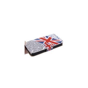 Iphone 5 5s coque housse en cuir pu drapeau anglais for Housse en anglais