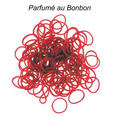 200 élastiques Loom - Rouge parfum bonbon - Loom
