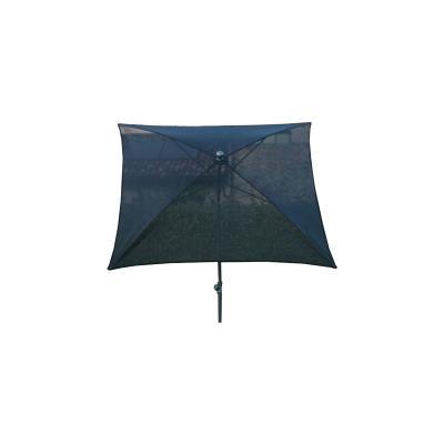 Parasol carré centré coloris noir, H 250cm x D 180 X 180/4 baleines -PEGANE-