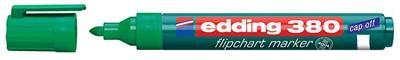 edding - Flipchart marker 380, pointe ogive, vert