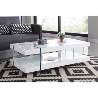 Crea table basse 120x60 cm laqué blanc brillant - Achat & prix | fnac