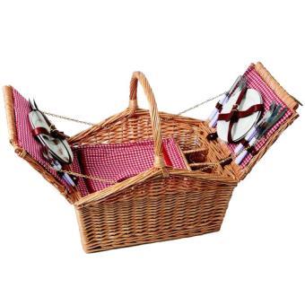 panier osier pique nique vichy rouge 4 personnes partie isotherme achat prix fnac. Black Bedroom Furniture Sets. Home Design Ideas