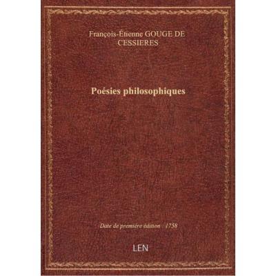 Poésies philosophiques
