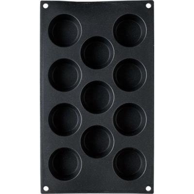 patisse 19200 moule à mini muffins 11 cavités platine noir paillette 30 x 17,5 cm