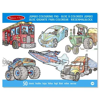 Bloc de coloriage Cahier grand format 50 pages Véhicules Enfants 3 ans +