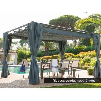 tonnelle de jardin palmeira 4 x 3 m ardoise mobilier de jardin achat prix fnac. Black Bedroom Furniture Sets. Home Design Ideas