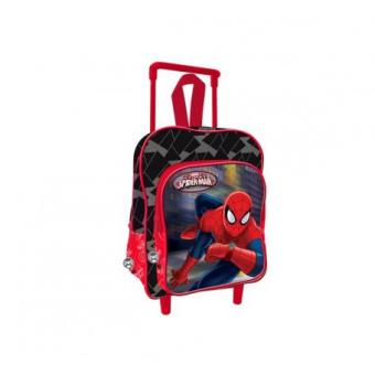 sac roulettes spiderman cartable gar on ecole primaire et maternelle 38 cm cartable sac. Black Bedroom Furniture Sets. Home Design Ideas