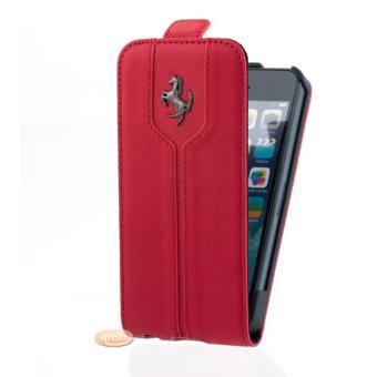 ferrari housse etui iphone 5 5s rabat montecarlo cuir rouge etui pour t l phone mobile. Black Bedroom Furniture Sets. Home Design Ideas