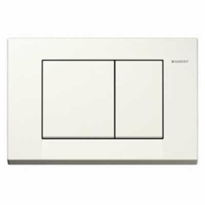 Plaque de commande Bolero Geberit couleur au choix-Blanc
