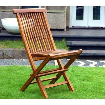 chaise de jardin en teck huilé , chaise pliante