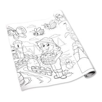 Rouleau De Coloriage Adhesif Fille 3 2 M Rayher Papier
