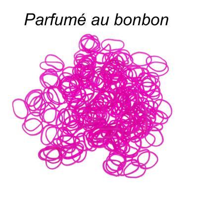 200 élastiques Loom - Fuchsia parfum bonbon - Loom