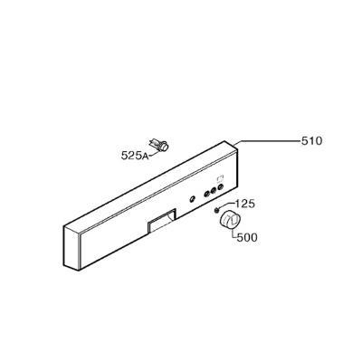 Electrolux Bandeau Assemble Aluminium Rep 510 Ref: 156088270