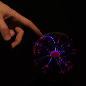 Electronic Star Lampe Lumiere Boule Plasma Tactile Micro 20cm Jeux