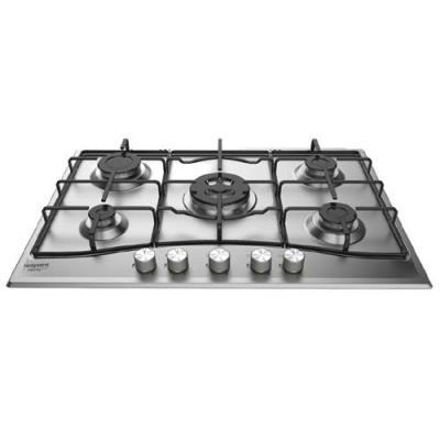 Hotpoint Ariston Newstyle PCN 752 T/IX/HA - Table de cuisson au gaz - 5 plaques de cuisson - Niche - largeur : 55.5 cm - profondeur : 47.5 cm - acier inoxydable - acier inoxydable