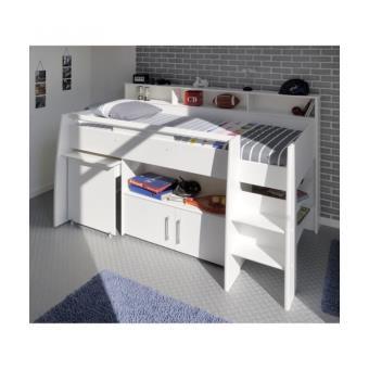 dave lit combin 90cm bureaurangement blanc lit pour enfant achat prix fnac - Lit Combine Enfant