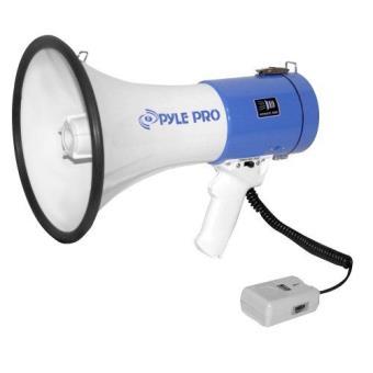 M/égaphone Professionnel Pi/ézo Dynamique 30 Watts Pyle avec Sir/ène et Microphone amovible.