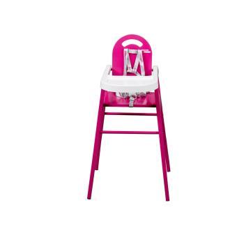 Chaise Simple Pour Bebe En Bois Rose Fushia Fabrication Francaise