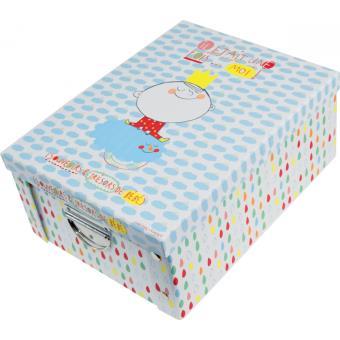 boite de rangement en carton enfant taille l l o lulu coffre jouets et rangements. Black Bedroom Furniture Sets. Home Design Ideas