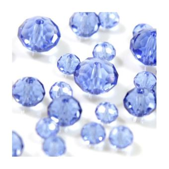 50 Perles de bohème facette 8 mm Cristal