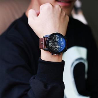 montre homme gros bracelet cuir