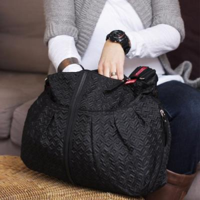 Babymel sac à langer amanda quilted noir Sacs à langer