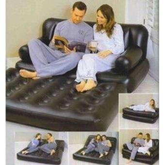 matelas canap gonflable pour 2 personnes d 39 appoint avec. Black Bedroom Furniture Sets. Home Design Ideas