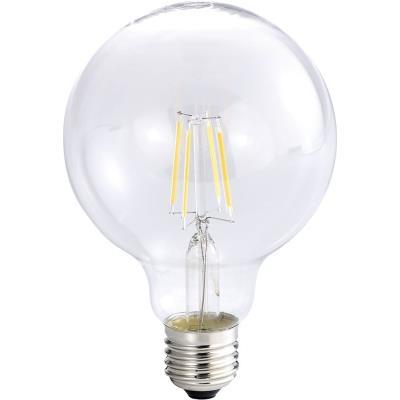 Ampoule Globe LED à filament A++, E27, 6 W, 600 lm, 360°, Blanc