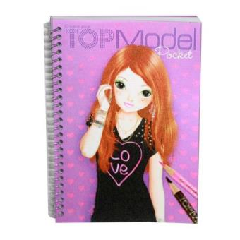 Album top model pocket parme 3d coloriage top prix fnac - Top model carnet de dessin ...